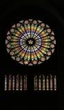 Vidrio manchado en la catedral - Estrasburgo Fotos de archivo libres de regalías