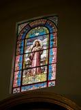 Vidrio manchado Jesús Fotografía de archivo