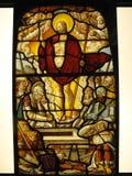 Vidrio manchado medieval la resurrección Foto de archivo