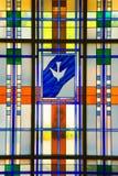 Vidrio manchado moderno Imagen de archivo