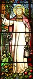 Vidrio manchado religioso Imagenes de archivo