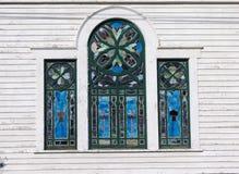 Vidrio manchado Windows Foto de archivo libre de regalías