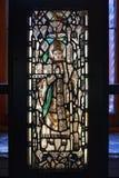 Vidrio manchado y pintado exhibido en Victoria y Albert Museum fotografía de archivo