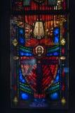 Vidrio manchado y pintado exhibido en Victoria y Albert Museum fotos de archivo libres de regalías