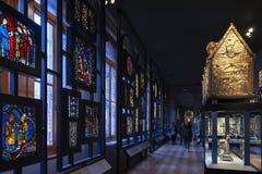 Vidrio manchado y pintado exhibido en Victoria y Albert Museum fotografía de archivo libre de regalías