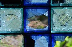 Vidrio modelado roto Foto de archivo libre de regalías