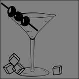 Vidrio para martini ilustración del vector