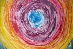 Vidrio pintado a mano Imagen de archivo libre de regalías