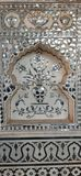 Vidrio pintado a mano de Sish Mahal fotos de archivo libres de regalías