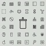 vidrio plástico con el icono de la soda Sistema detallado de la línea minimalistic iconos Diseño gráfico superior Uno de los icon Fotos de archivo