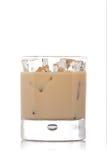 Vidrio poner crema del whisky Fotografía de archivo