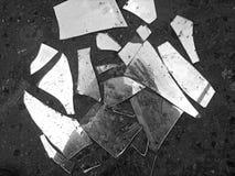 Vidrio quebrado foto de archivo libre de regalías