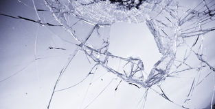 Vidrio quebrado Imagenes de archivo