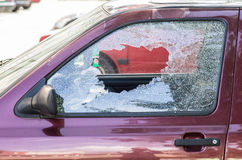 Vidrio quebrado del coche Fotos de archivo libres de regalías