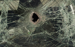 Vidrio quebrado del coche Fotos de archivo