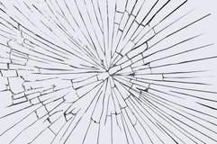 Vidrio quebrado del parabrisas Imagen de archivo