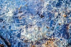 Vidrio quebrado El vidrio fue roto foto de archivo