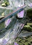 Vidrio quebrado en la casa después del terremoto desastroso Fotografía de archivo