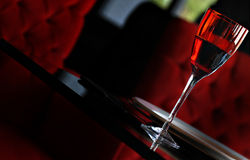 Vidrio rojo Imágenes de archivo libres de regalías