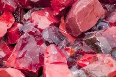 Vidrio rojo de la escoria Imagen de archivo