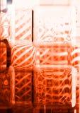Vidrio rojo del arte