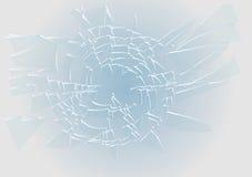 Vidrio roto azul ilustración del vector