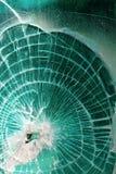 Vidrio roto quebrado foto de archivo libre de regalías
