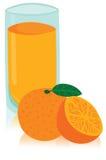 Vidrio sabroso de zumo de naranja Imágenes de archivo libres de regalías