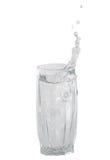 Vidrio transparente para el agua Foto de archivo