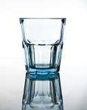 Vidrio vacío azul Fotografía de archivo libre de regalías