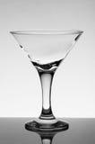 Vidrio vacío para martini Fotos de archivo