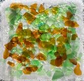 Vidrio verde y marrón congelado del mar Foto de archivo libre de regalías