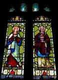 Vidrio Windows de la mancha del priorato de Tynemouth Imagenes de archivo
