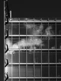 Vidrio y acero de B/W Fotos de archivo