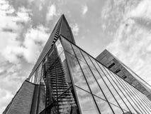 Vidrio y acero 1 de Toronto - B&W Imagen de archivo