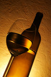 Vidrio y botella Imagen de archivo