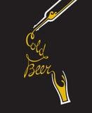 Vidrio y botella de cerveza Imagen de archivo libre de regalías