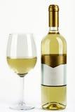 Vidrio y botella de vino Imagen de archivo