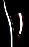 Vidrio y botella de vino Fotos de archivo libres de regalías