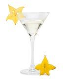 Vidrio y carambola de Martini fotografía de archivo libre de regalías