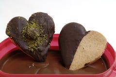 Vidrio y chocolate Foto de archivo libre de regalías