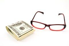 Vidrio y dinero, Fotografía de archivo libre de regalías