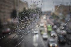 Vidrio y luces quebrados de las linternas autos Imágenes de archivo libres de regalías