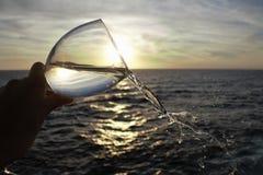 Vidrio y puesta del sol Fotografía de archivo libre de regalías
