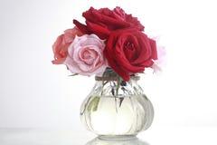 Vidrio y rose2 Fotografía de archivo libre de regalías