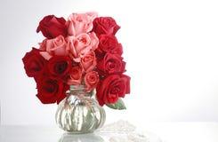 Vidrio y rose4 Foto de archivo