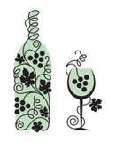 Vidrio y uvas Imagen de archivo libre de regalías