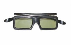 Vidrios activos de 3D TV imagen de archivo