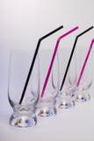 vidrios Alto-vacíos para los cócteles Imagen de archivo