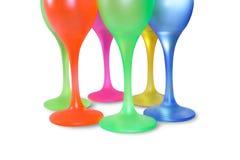 Vidrios altos coloreados Foto de archivo libre de regalías